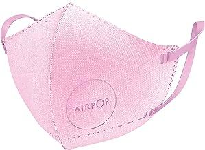 Airpop 4 Pk Roze Herbruikbaar Wasbaar Gezichtsmasker voor Kinderen, 4-Laags Mond en Neus Masker, Voorgevormde Pasvorm, Lic...