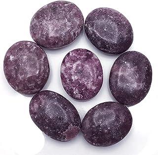 Large Lepidolite Palmstone Worry Stone Pocket stone ETLEPID002