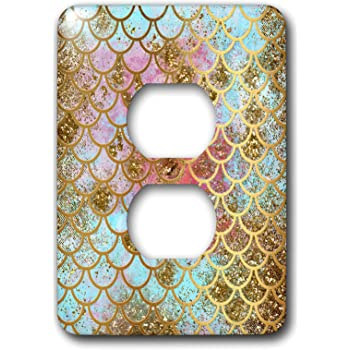 3dRose lsp/_160295/_6  Photo of Rainbow Colorful Glitter 2 Plug Outlet Cover