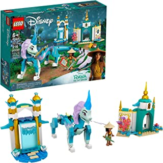 LEGO Disney Raya and Sisu Dragon 43184؛ یک اسباب بازی منحصر به فرد و کیت ساختمانی ؛ بهترین برای کودکانی که داستان هایی با اژدها و ماجراجویی با شخصیت های قوی دیزنی را دوست دارند ، جدید 2021 (216 قطعه)