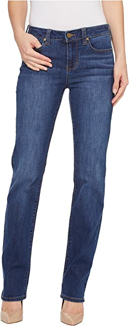Sadie Straight Vintage Super Comfort Stretch Denim Jeans in Montauk Mid Blue