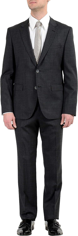 Hugo Boss C-Jeys1/C-Shaft1 Men's 100% Wool Dark Gray Two Button Suit US 40R IT 50R