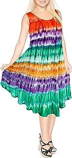 para Mujer Cubierta Suelta de baño Bikini Traje de baño de Color Calabaza Naranja Vestido de la Playa de Talla Grande