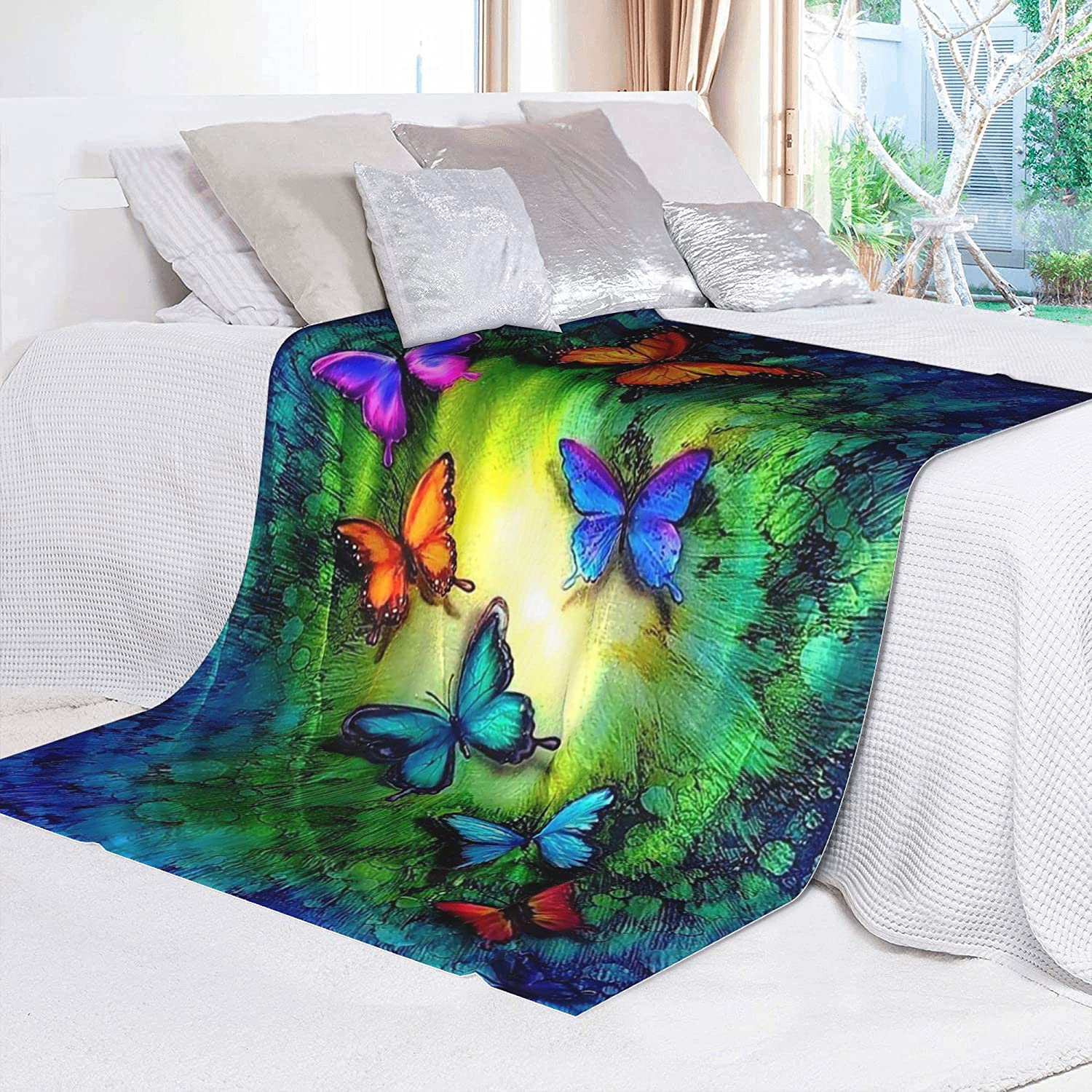 Butterfly-Light All Season Throw Blanket Soft Air Cheap super Milwaukee Mall special price Q Conditioning