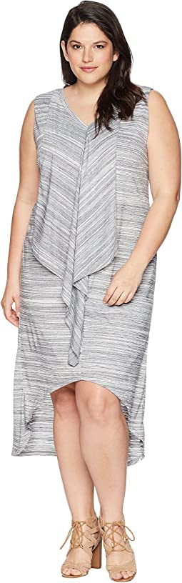 KARI LYN Plus Size Farah High-Low V-Neck Dress