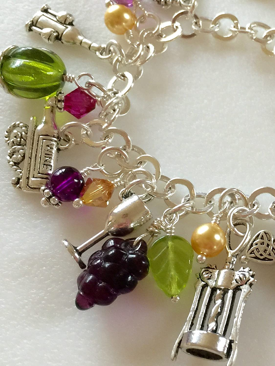 Discount mail order Wine Charm Bracelet Lovers wi Hand