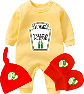 AOUYOA Baby Zwillinge Body Geschenk Junge Kleidung Yummz Ketchup Senf Baby Shower Set Baby Zwillinge Outfits