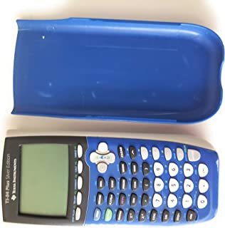 Texas Instruments TI-84 Plus Silver Edition Graphing Calculator - BLUE