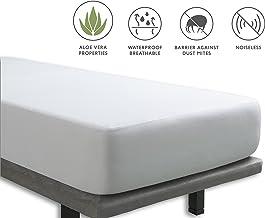 Tural – Protector de colchón Impermeable. Cubre colchon con Tratamiento Aloe Vera. Cubrecolchón Cama de Matrimonio, Transpirable. Rizo 100% Algodón. Talla 150x190/200cm