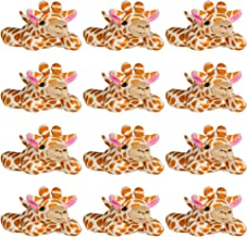 Wildlife Tree 12 Pack Giraffe Mini 4 Inch Small Stuffed Animals, Bulk Bundle Zoo Animal Toys, Jungle Safari Party Favors for Kids