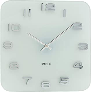 Present Time Karlsson Wall Clock Vintage Glass, White