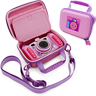 CASEMATIX Pink Toy Box Case Compatible with VTech Kidizoom Camera for Kids , Includes Shoulder Strap and Case Only