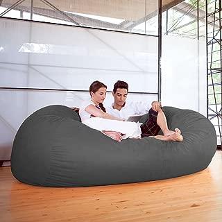 Jaxx 7 ft Giant Bean Bag Sofa, Charcoal