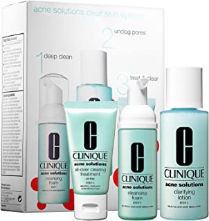 Clinique Acne Solutions Clear Skin Starter Kit Cleansing Foam + Clarifying Lotion + Clearing Moisturizer 3 pc set Cleansing Foam + Clarifying Lotion + Clearing Moisturizer Oil Free