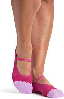 Pointe Studio Ankle Thin Strap Socks for Women with Grippers, Single Pair [Non-Slip, Yoga, Pure Barre, Pilates, Dance]