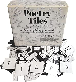 Magnetic Poetry Tiles - 789 Fridge Word Magnets - Essential Words Starter Kit for Refrigerator Poems and Stories - Includes Alphabet Headers and Gift Box