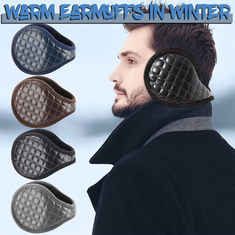 【USA In Stock】Ear Warmers For Men Women Foldable Fleece Unisex Winter Warm Earmuffs Outdoor Skiing,Biking