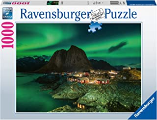 Ravensburger Northern Lights Over Hamnoy Norway 1000 Piece Jigsaw Puzzles for Adults & Kids Age 14 Years Up - Landscape Pu...
