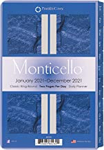 FranklinCovey Classic Monticello Daily Ring-Bound Planner - Jan 2021 - Dec 2021