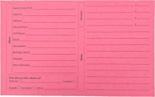 Style Customer Information Cards (Pack of 100, 5X8 Inch, Heavy Premium Card Stock) Beautician, Nail, Hairdresser, Cosmetologist Client Record Cards … (Cherry)