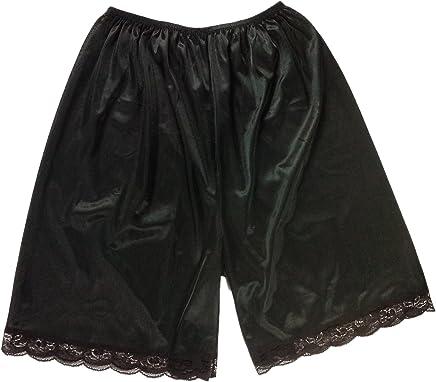 4e360daa9d PTP02 Black Nylon underworks Pettipants for Women Half Slip Plus Size  Lingerie Intimates