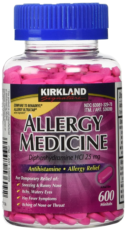 Rapid rise Kirkland Signature Allergy Medicine Diphenhydramine Choice 6 25 HCI Mg