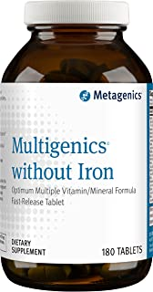 Metagenics - Multigenics without Iron, 180 Count