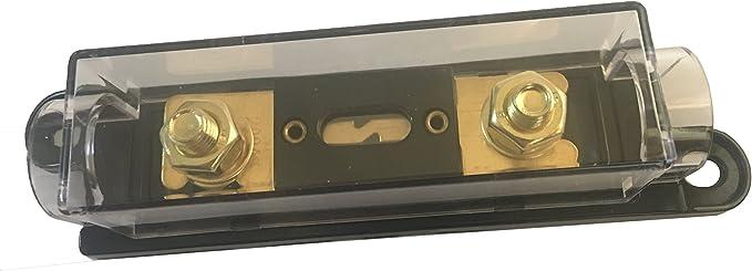 Kolacen Anl Vergoldete Sicherung 300 Amp Anl Sicherungshalter Schwarz 1 Pack Auto