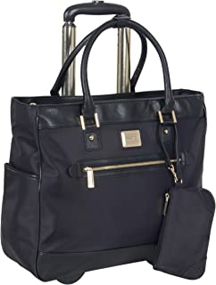 "Kenneth Cole Reaction Women's Runway Call Nylon-Twill 17"" Laptop & Tablet Anti-Theft RFID Wheeled Business Carry-On Tote"