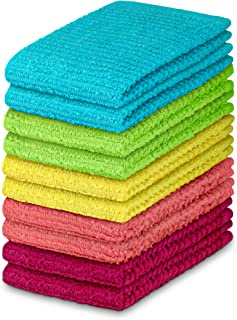 (10 Pack Spring Colors) - DecorRack 10 Pack 100% Cotton Bar Mop, 41cm x 48cm, Ultra Absorbent, Heavy Duty Kitchen Cleaning...