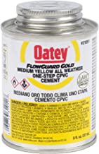 Oatey 31911 LO-V.O.C. CPVC Flowguard Gold 1-Step Yellow Cement, 8-Ounce