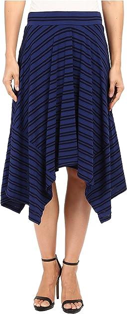 Tonal Tencel Stripe Handkerchief Stripe Skirt