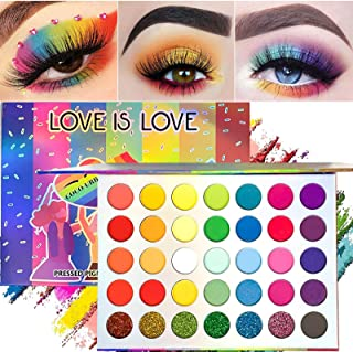 35 Colors Eyeshadow Palette, High Pigmented Makeup Palette Matte And Shimmer Glitter Powder Eye Shadow, Colorful Long Lasting Waterproof Professional Eye Shadow Palettes for Woman Make Up (Style 2)
