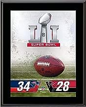 New England Patriots vs. Atlanta Falcons Super Bowl LI 10.5'' x 13'' Sublimated Plaque - NFL Team Plaques and Collages