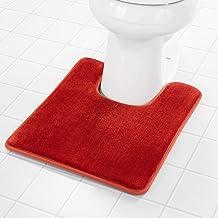 Genteele Memory Foam Toilet Bathroom Rugs U-Shaped Contour Toilet Mat, Non Slip, Machine Washable, Absorbent, Super Cozy V...