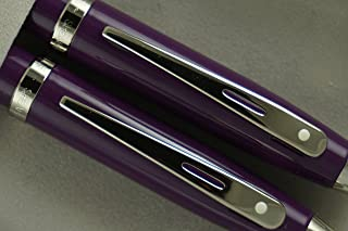 Sheaffer 100 purple with Nickel appointments Pen and 0.7mm Pencil set. Very solid and Responsive Mechanical Set . A Great Gift to Anyone.
