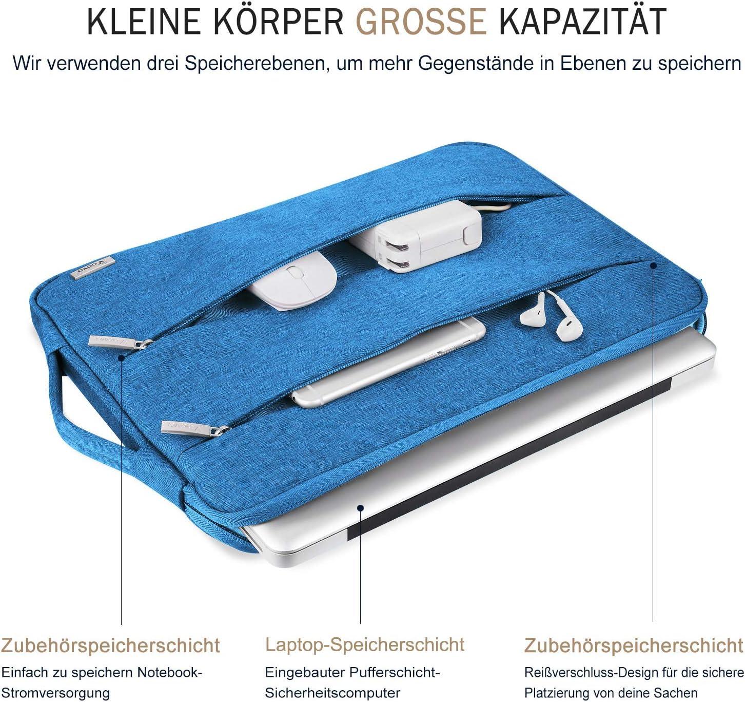 Voova Laptop Tasche 15.6 Zoll 15 Zoll mit Griff,wasserdichte Laptoptasche 15.6 Zoll H/ülle Sleeve f/ür MacBook 15.4//Surface 15//Dell XPS 15//Chromebook mit 2 Taschen,Notebook Laptoph/ülle Case-Pink Frau