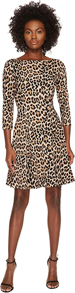 Kate Spade New York - Leopard Ponte Dress