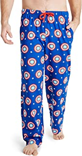 MARVEL Captain America Mens Lounge Bottoms, 100% Cotton Male Clothing, Men Pyjamas, Birthday Gifts for Him, Elasticated Wa...