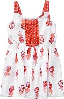 Gymboree Girls' Toddler Sleeveless Printed Summer Dress