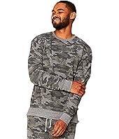 Camo Print Tri-Blend Fleece Crew