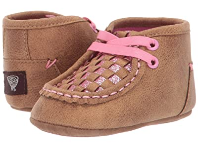 M&F Western Kids Lauren (Infant/Toddler) (Tan/Pink) Cowboy Boots