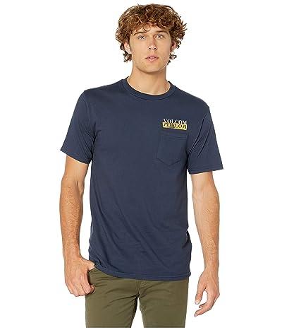 Volcom Refection Short Sleeve Pocket T-Shirt (Navy) Men