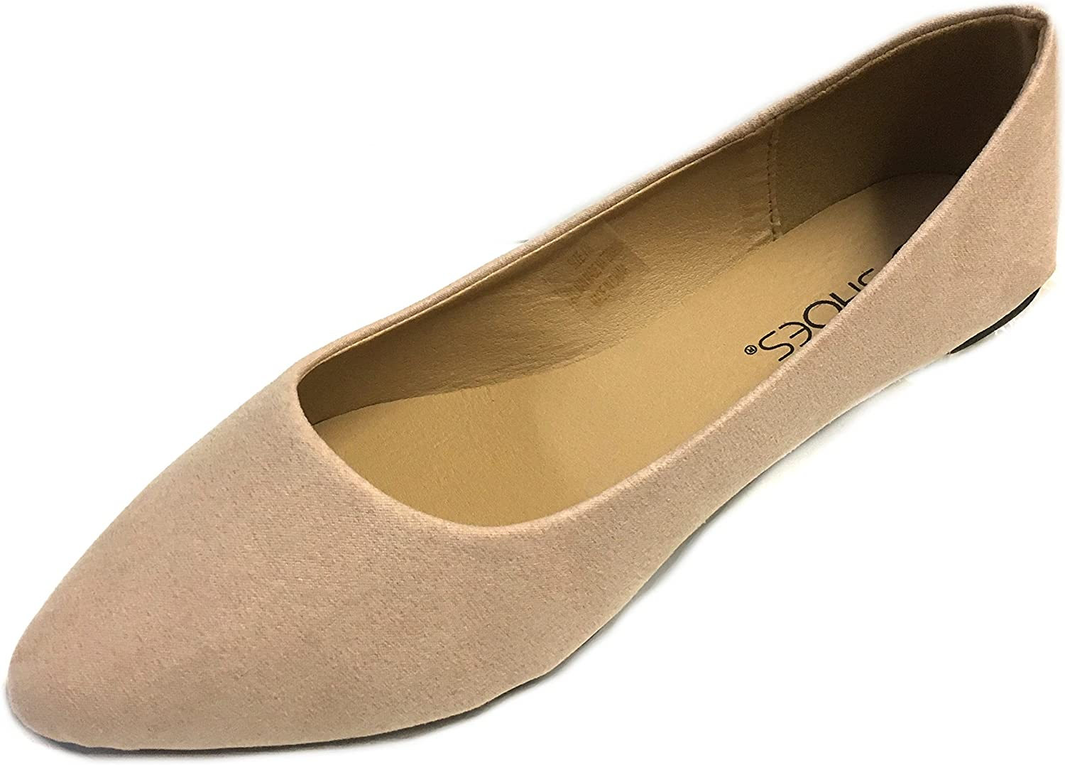 shoes 18 Womens Pointy Toe Ballet Flats 8800 Nude Micro 5 6