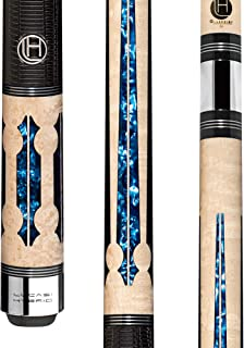 Lucasi Hybrid LHC97 Natural Birds-Eye Maple with Blue Crushed Velvet Inlays Technology Cue