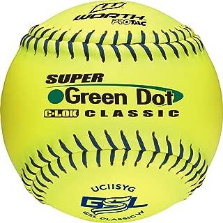 Worth GSL Slow-Pitch Pro Tac Classic Soft Balls, 11