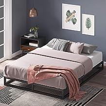Zinus Joesph King Low Bed Base Frame 15cm Modern Studio Industrial Bed - Metal Steel Bed Frame Wood Slats Wooden