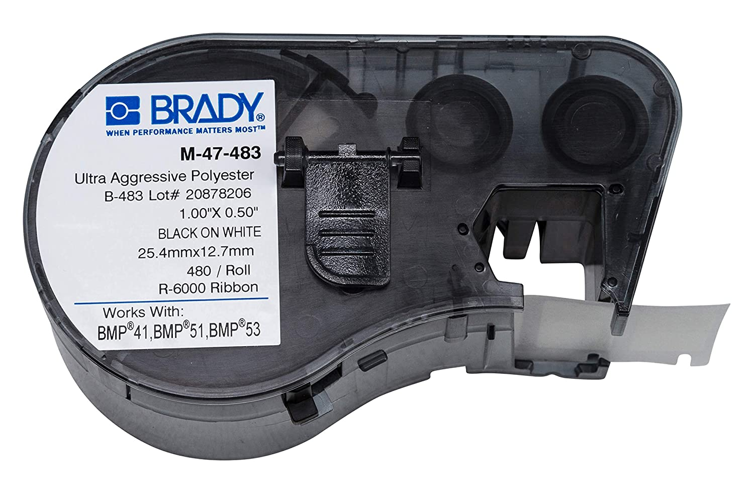 Brady M-47-483 Labels for Complete Free Shipping Printers BMP51 BMP53 gift
