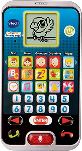 VTech Call & Chat Learning Phone, Black, Great Gift For Kids, Toddlers, Toy for Boys and Girls, Ages 2, 3, 4, 5