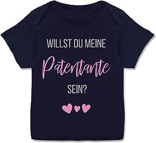 Shirtracer Zur Geburt - Willst du Meine Patentante Sein - Kurzarm Baby-Shirt für Jungen und Mädchen